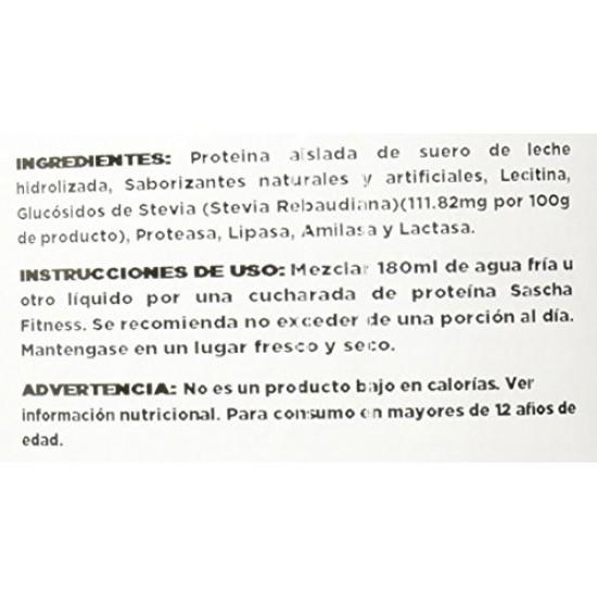 Sascha Fitness Bote de Proteína, Vanilla Icecream, 907 gr