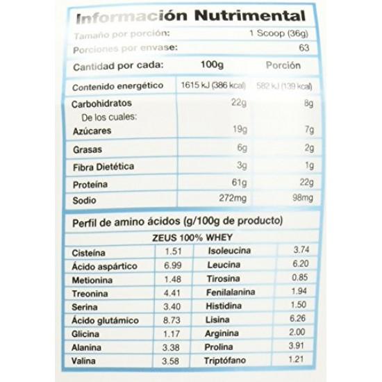 MDN, 12729 Olimpo Zeus 100% Whey, Sabor Chocolate, 5 lbs