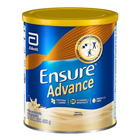 Ensure Advance Alimentación Especializada en Polvo Unica con HMB Sabor Vainilla de 400g