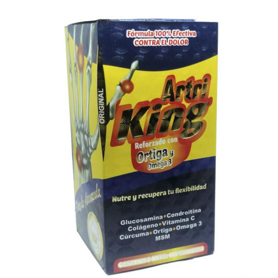 Artri King con Ortiga y Omega 3 Frasco con 100 Tabletas