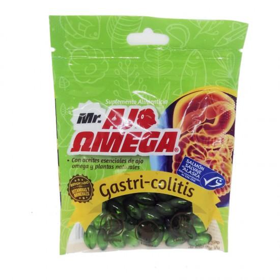 Mr Ajo Omega Gastri Colitis de Salmon Salvaje de Alaska, bolsa con 60 Cápsulas de Gel