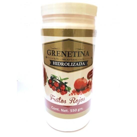 Grenetina Hidrolizada Sabor Frutor Rojos con 550 gramos
