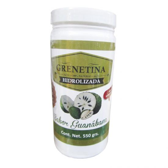 Grenetina Hidrolizada Sabor Guanabana con 550 gramos