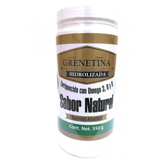 Grenetina Hidrolizada Sabor Natural 550 grs.