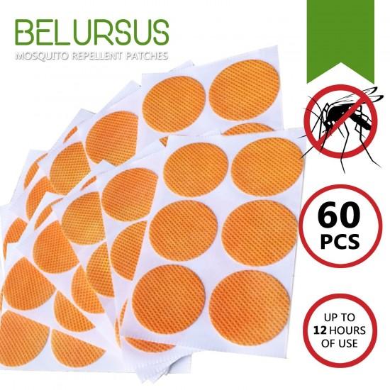 Parches Orgánicos Repelentes de Mosquitos con 60 piezas.