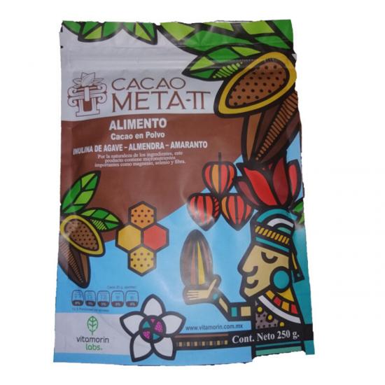 Cacao Meta TT Orgánico, bolsa de 250 gramos