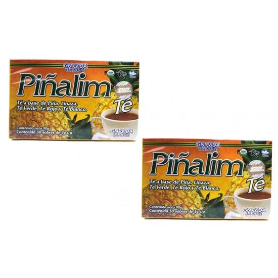 2 Piñalim Con 30 Sobres, Té Original Con Holograma