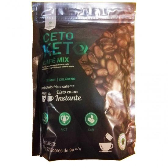 Ceto Keto Café Mix con Colágeno y Aceite MCT