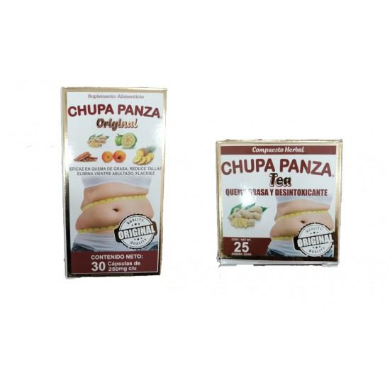 Chupa Panza Paquete De Capsulas Y Té, ( Dos Productos )