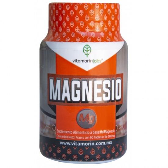 Magnesio, Bote con 90 tabletas de 500 mg
