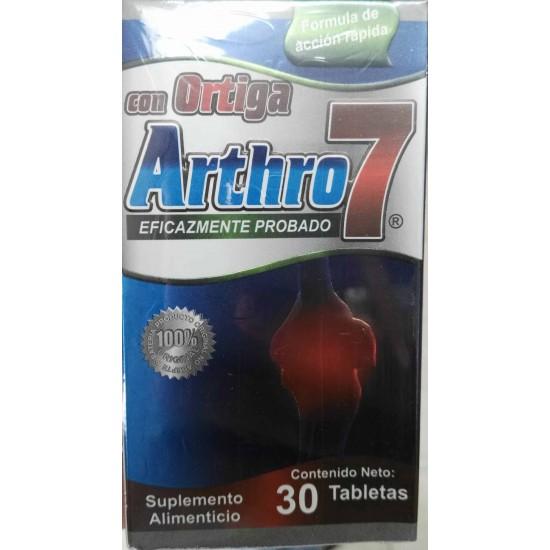 Arthro7 con Ortiga bote con 30 Tabletas.